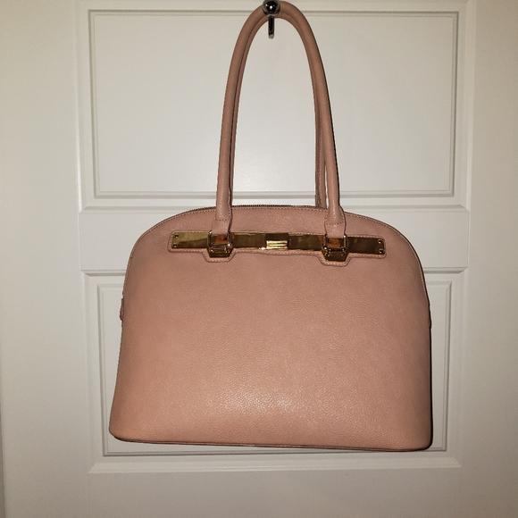 Pebbled vegan leather handbag